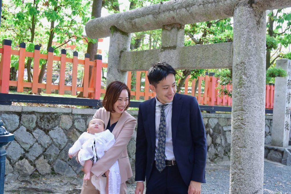 伏見稲荷大社のお宮参り写真撮影