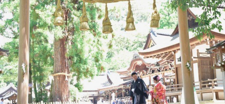 大神神社の結婚式(2019.5.12)