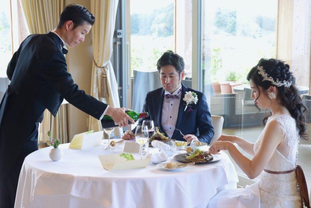 オーベルジュ・ド・プレザンス桜井で食事会や披露宴、会食の写真