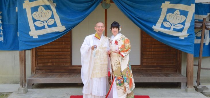 仏前式の結婚式の写真