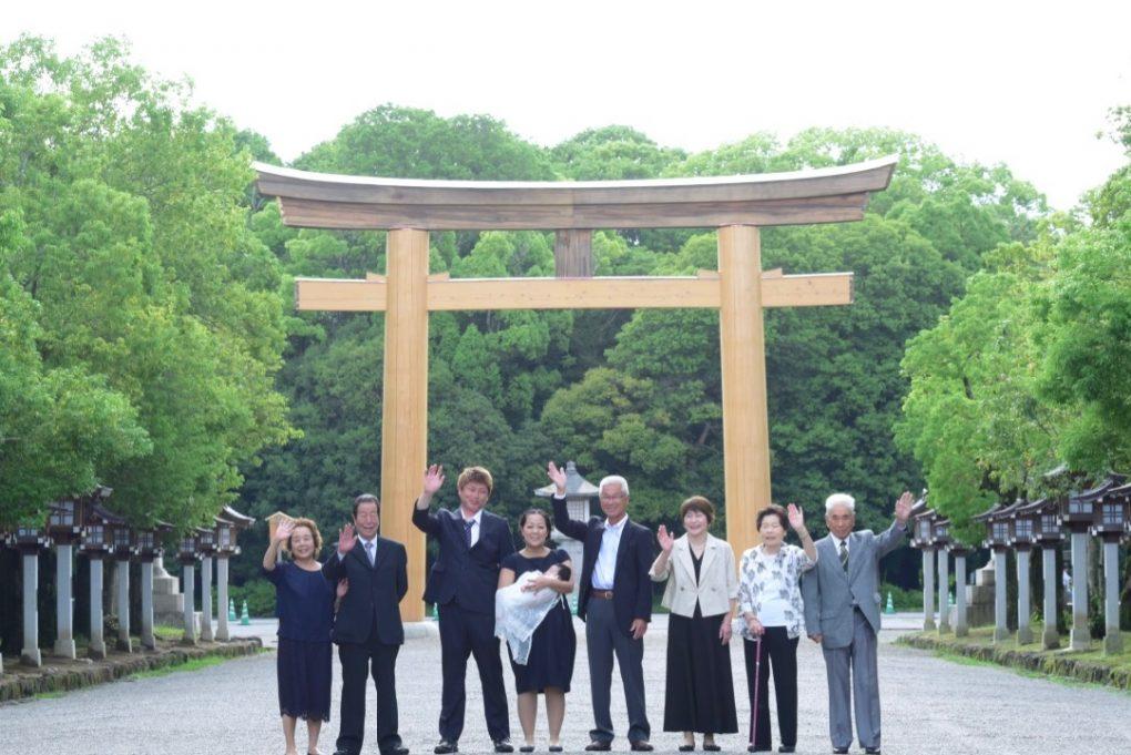 橿原神宮のお宮参り写真