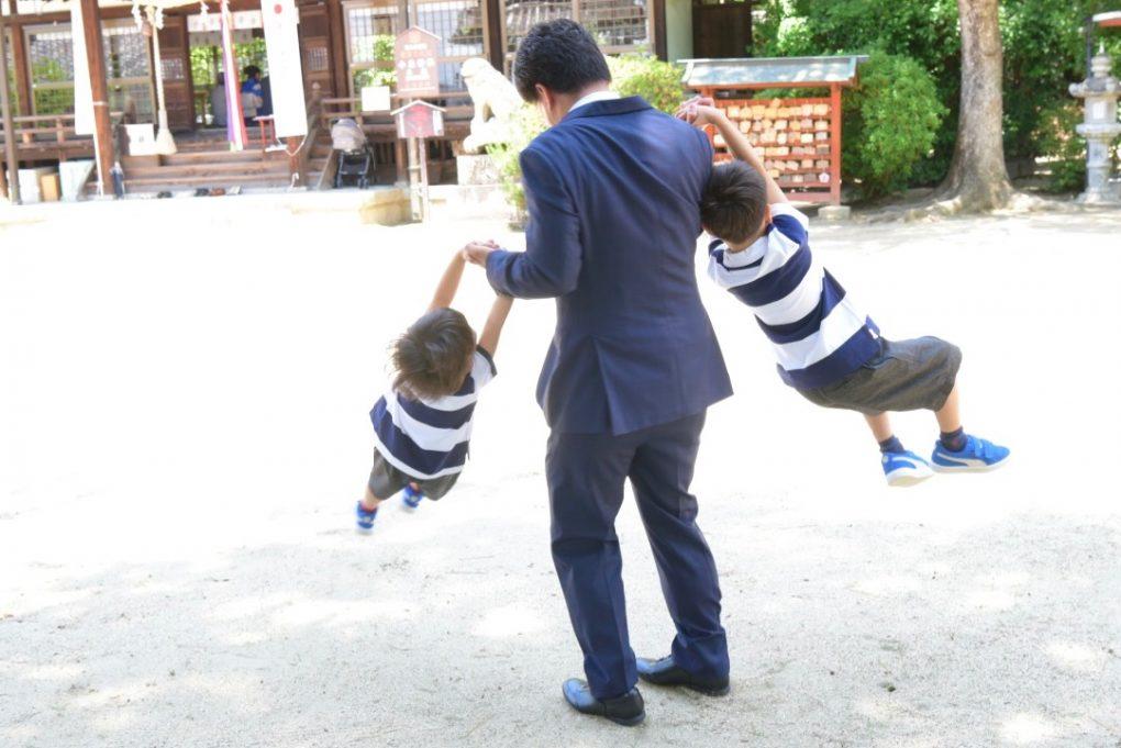 小泉神社でのお宮参り写真