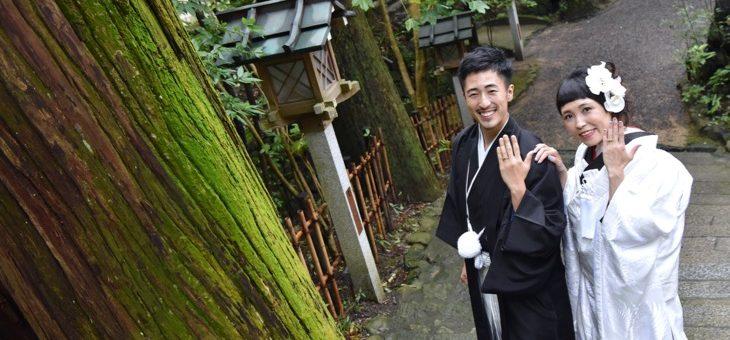 大神神社、雨の結婚式
