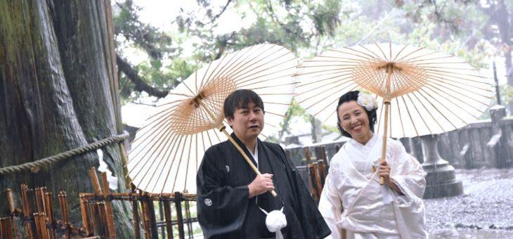 戸隠神社での結婚式