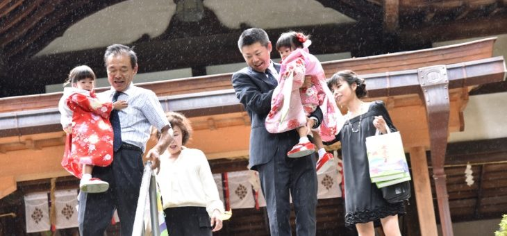 往馬大社で七五三(2016.9.28)