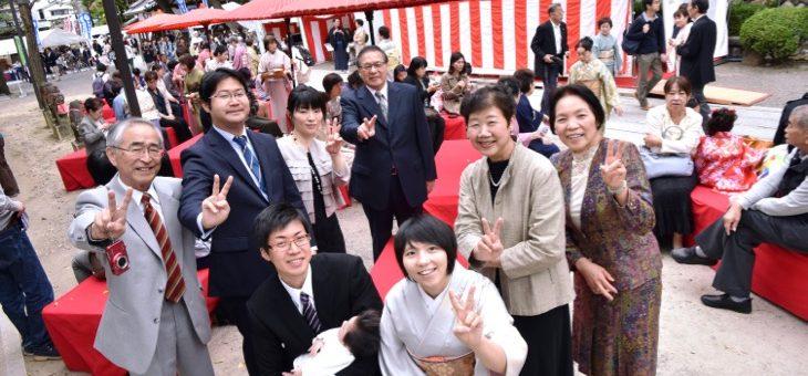 茨木神社でお宮参り