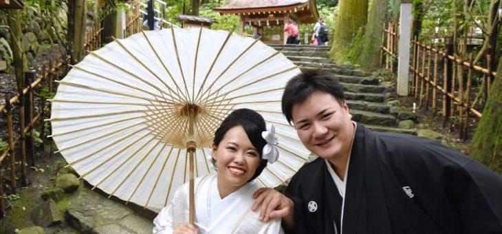大神神社、雨の結婚式1