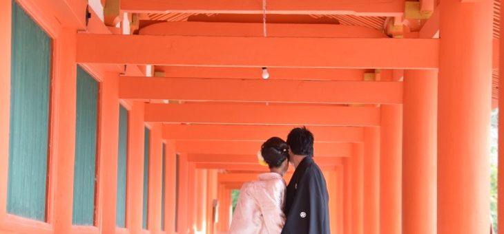春日大社の結婚式|17127