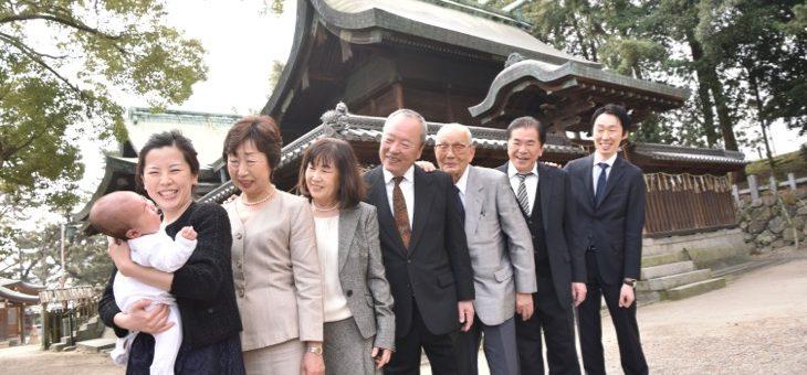 茨木神社のお宮参り(17.3.19)