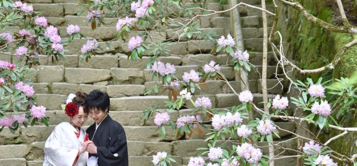 室生寺と古民家で前撮り