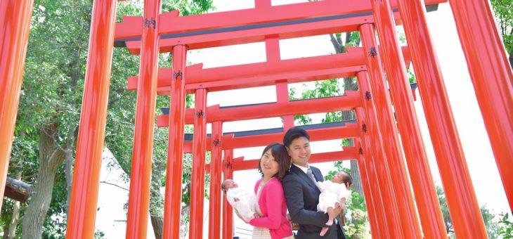 豊中稲荷神社でお宮参り