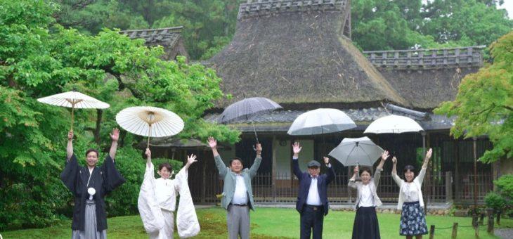 雨の和装前撮り