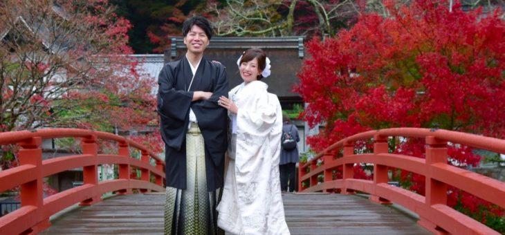 室生寺で前撮り(18.11.19)