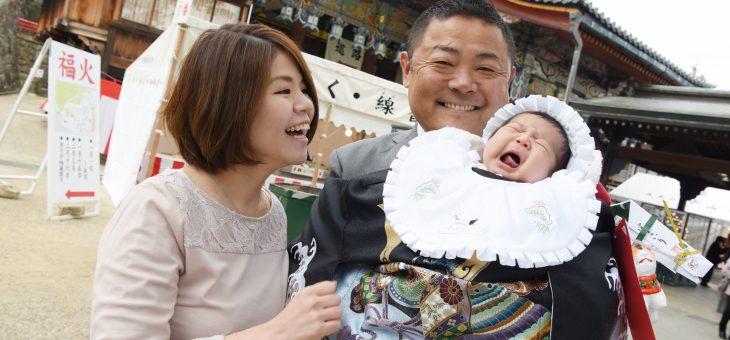 中山寺でお宮参りは柔らかな日差しのもとで(2019.1.5)