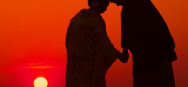 和装フォトウエディングは夕日が綺麗でした!写真10枚で紹介
