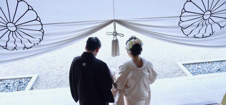 大神神社で白無垢洋髪の結婚式