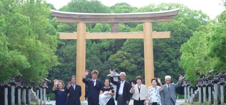 橿原神宮お宮参り写真(2019.6.16)